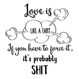 Funny  hand drawn quote about love - 206159689