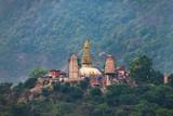 Swayambhunath stupa also called Monkey Temple in Kathmandu, Nepal - 206165899