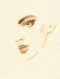 beautiful woman. fashion illustration. watercolor painting - 206166825