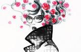 beautiful woman. fashion illustration. watercolor painting - 206167400