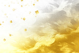 金色の和紙でレイアウトしたビジュアル  - 206167446