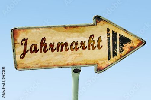 Fotobehang Amusementspark Schild 328 - Jahrmarkt