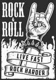 Hand in rock n roll sign - 206175027