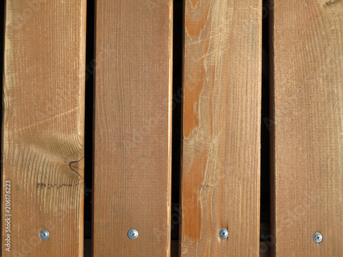 Wood Flooring Wooden Boards With Screws Unpainted Bench Texture