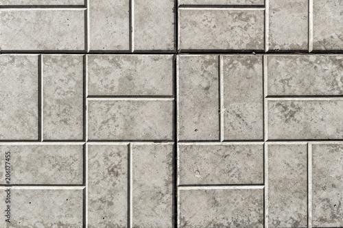 Foto Murales Pavement. Sidewalk tile background. Pavement tile. Top view. Closeup. Footpath. Sidewalk