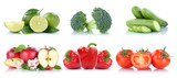 Früchte Obst und Gemüse Sammlung Apfel Tomaten Farben frische Freisteller freigestellt isoliert © Markus Mainka