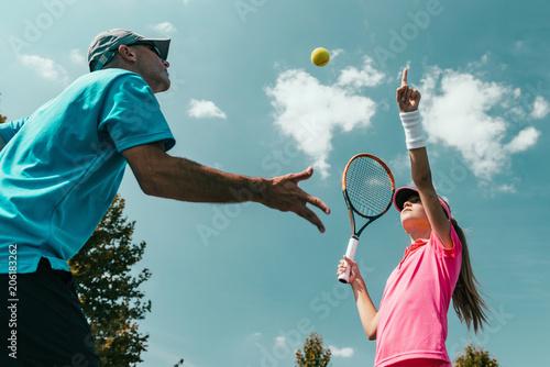 Fotobehang Tennis Tennis training