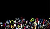sfondo, lettere, scrivere, parlare - 206183610