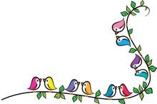 Love Birds  Design Sticker