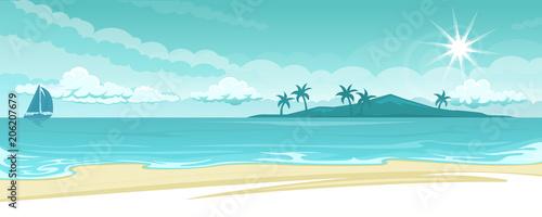 Ocean lanscape illustration