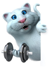 Fun Cat  3d Illustration Sticker