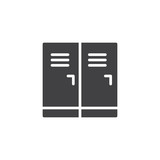 Lockerroom vector icon. filled flat sign for mobile concept and web design. School lockers simple solid icon. Symbol, logo illustration. Pixel perfect vector graphics - 206224667