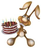 Fun rabbit - 3D Illustration