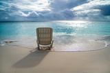 Plastic chaise longue near the sea shore - 206239094