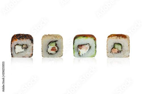 Fotobehang Sushi bar variants of different types of food