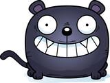Cartoon Panther Smiling