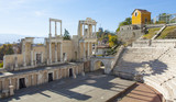 PLOVDIV, BULGARIA - NOVEMBER 09, 2015:ruins of ancient theater - 206268406