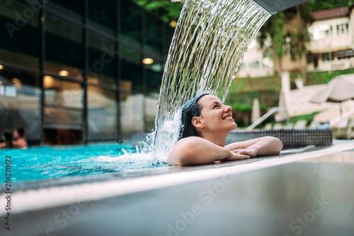 Fotobehang Spa Spa water treatments, swimming pool.