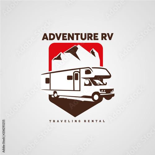 adventure rv camper car logo designs template buy photos ap
