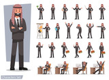 set of businessman character poses no 14