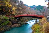 Shinkyo Bridge, Nikko, Japan - 206296413