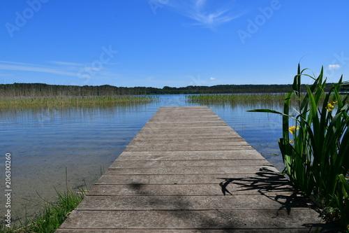 Canvas Pier Beautiful Lake Jezioro Choczewskie