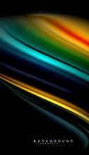 Fluid Mixing Colors  Wave   Sticker