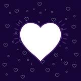 heart icon over purple background, colorful line design. vector illustration - 206309663