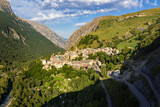 The village of La Grave in morning summer light. Romanche Valley, Ecrins National Park, Southern Alps, Hautes-Alpes, France - 206317624