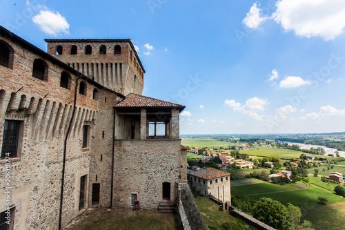 Wall mural Castello di Torrechiara in provincia di Parma, Emilia Romagna Italia