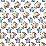 doodle 3d sparkly star style background