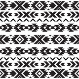 Seamless tribal black and white pattern - 206327032