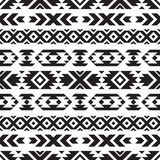 Seamless tribal black and white pattern - 206327045
