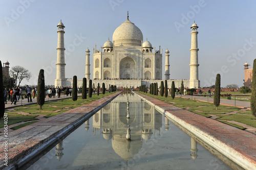 Foto Murales Taj Mahal Grabmal, UNESCO-Weltkulturerbe, Agra, Uttar Pradesh, Indien, Asien