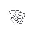 Gardenia line icon, vector illustration. Gardenia flat concept sign.