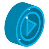 media player button icon vector illustration design - 206343698