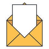 envelope mail isolated icon vector illustration design - 206343816