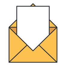 Envelope Mail  Icon  Illustration Design Sticker