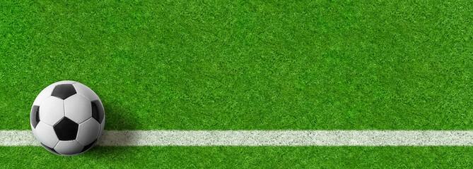 Fußball auf Rasen - Panoramaformat