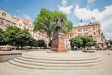 Monument to Danylo Halytskyi in Lviv, Ukraine - 206359288