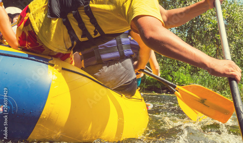 Leinwanddruck Bild Rafting