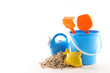 sand with toys, holiday concept