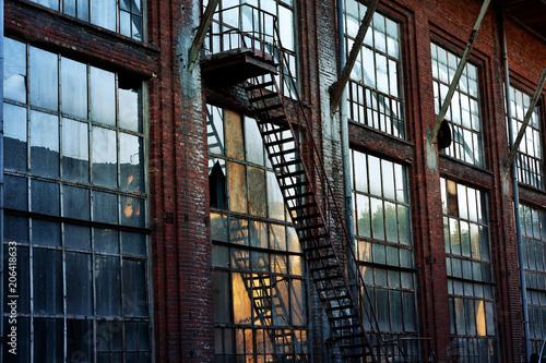Fotobehang Gebouw in Puin old abandoned factory building in Lodz,Poland