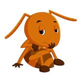 cute brown ant sadness - 206429043
