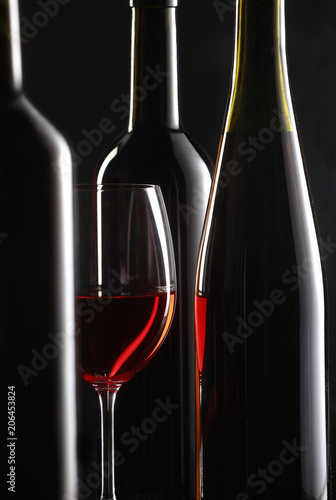 stil life with red wine