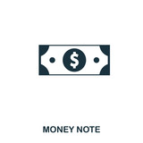 Money Note icon. Flat style icon design. UI. Illustration of money note icon. Pictogram isolated on white. Ready to use in web design, apps, software, print. - 206471012