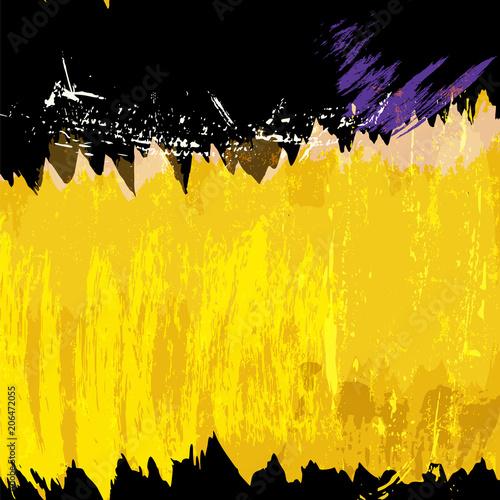 Fotobehang Abstract met Penseelstreken Dark background with free copy space, vector