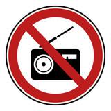 Verbotsschild Icon - Laute Musik (Radio) - 206474099