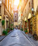 Narrow street in Florence, Tuscany. Italy - 206475487