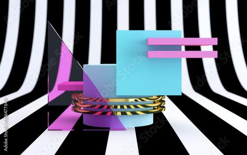 minimalistyczny-abstrakcyjne-tlo-prymitywne-figury-geometryczne-pastelowe-kolory-render-3d-plakat-trend